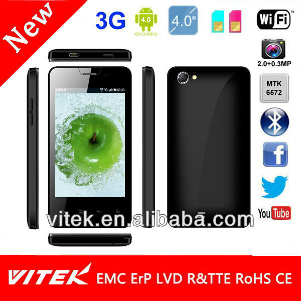 3G Android 4.1 Dual Core 4 inch Android Smart cell Phone