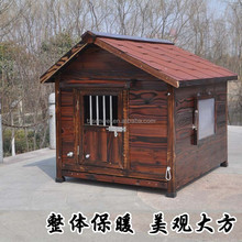 customized log cabin pet house, outdoor wooden dog home