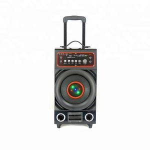 Factory Price Karaoke Subwoofer Portable Marine Speaker Waterproof With Trolley Wheels