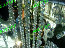 crystal bead chain wedding decoration