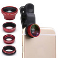 Multi-functional Fisheye Lens+Wide-angle + Macro+CPL Lens Set W/ Clip For Mobile Phones Tablets