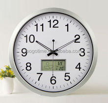 Big digital wall clock, aluminum wall clock