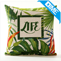 New Tropical green plants decoration home sofa office Customize Cushion cover