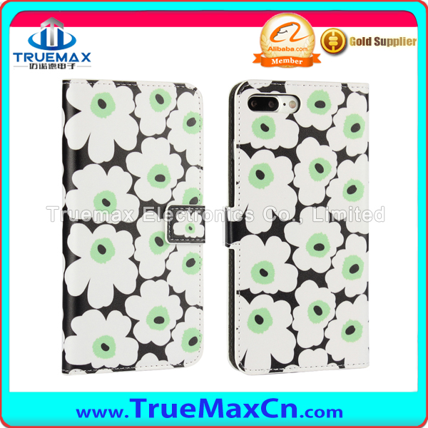 European Classic Flower Petal Soft TPU Case Cover for Apple iPhone 7 Plus Luxury Protective Phone Case