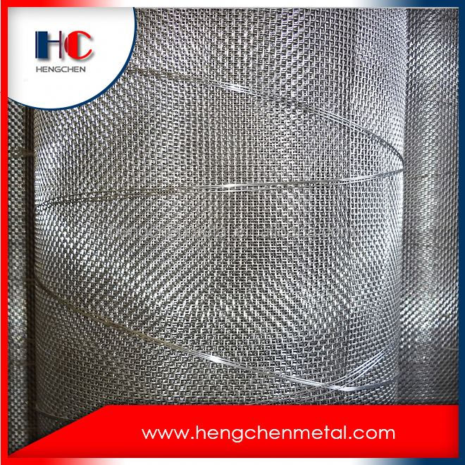 Anping ss crimped wire mesh vibrating screen for sale