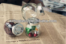 50ml,90ml and 200ml glass candy jars for candy with mental lids