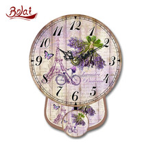 Fancy lavender bouquet mini bike printing clock home decoration products