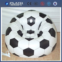 Factory Plastic Sofa Furniture,Inflatable football sofa for room
