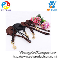 2016 High quality leather straps for dog leash with muilt-sized for Small Medium Dogs