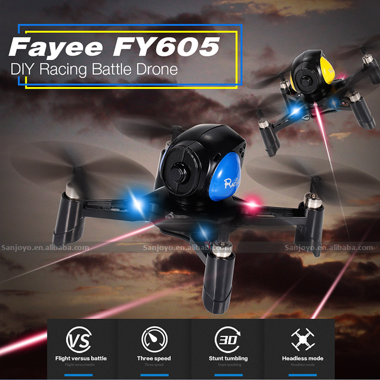 2017 Newest Battle drone Infrared Fighting function 1Pair Batle drone with 720P Wifi FPV SJY-605 Battle drone