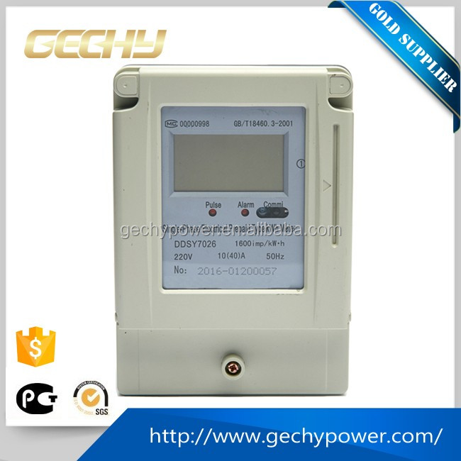 DDSY Contact Type Single phase Electronic prepaid watt-hour Meter/Electricity Electric Energy Meter