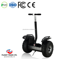 18 inch Self-Balance Two Wheel smart electric golf car for countryside with big tire Samsung battery Black