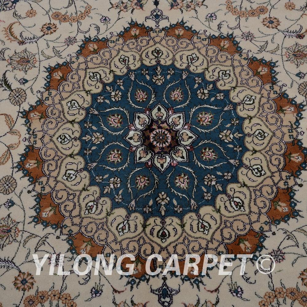Yilong 6 39 x9 39 alfombra hecha a mano de seda persa anudada for Alfombra persa seda