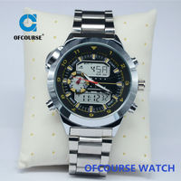 Japan quartz and digital dual movt 3atm water resistant watch on china market