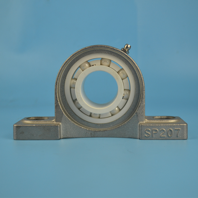 High Quality stainless steel pillow block bearing SP207 spherical bearing house