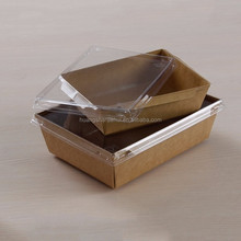Hotsale Jiehui Takeout Disposable Paper Food Container with lid 900ml for salad