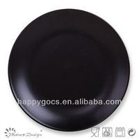 Ceramic Round Shape Solid Matte Black Dinner Plate