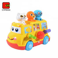 newest lovely cartoon mini yellow school happy bus toys with high quality