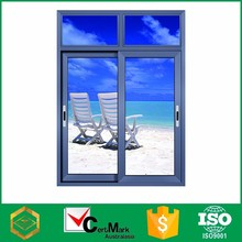China factory price aluminum float glass slide track window system