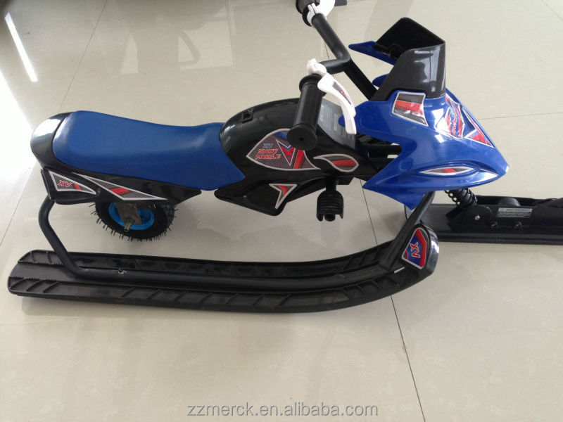 outdoor sports kids snow sled electric snowmobile for sale