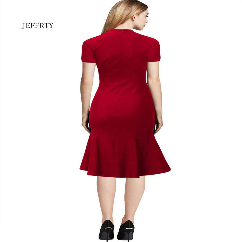 High quality red body slim ladies dress OL wear occasion office dress for women F2001