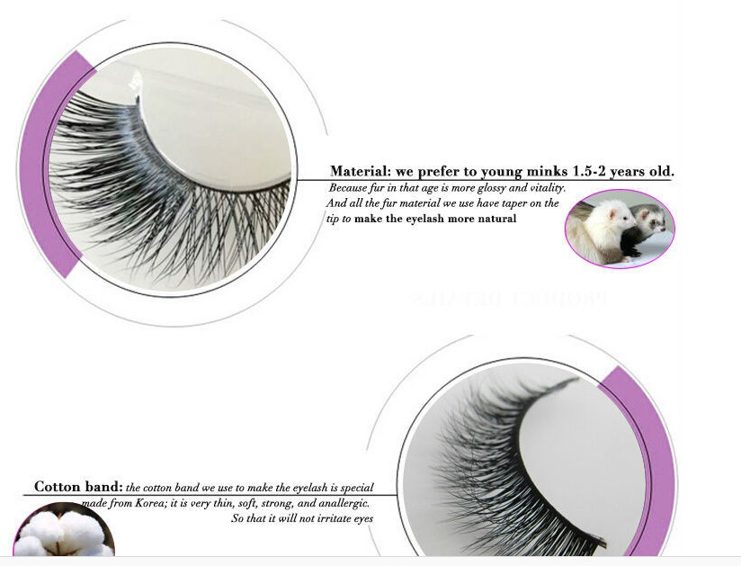 Hot selling 3D eyelash China manufacturer sample free real mink eyelashes custom box