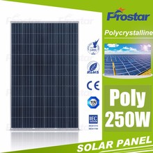 high quality and good price 4BB poly 250w solar panels