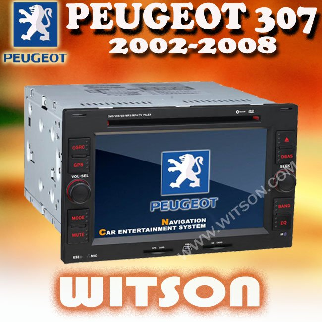 WITSON peugeot 307(2002-2008) double din car dvd gps for peugeot 307