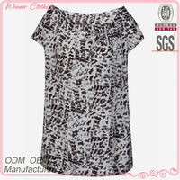 summer/casual wear blouse chinese style print old lady blouse with 100% cotton