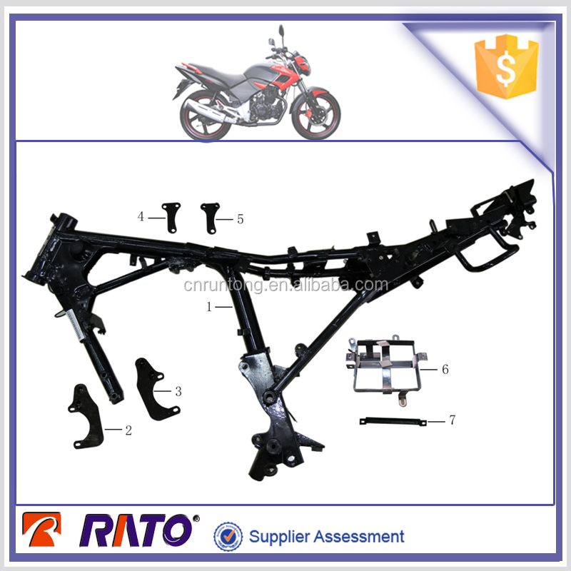 Motorcycle main body frame and other related motorcycle parts for ITALIKA FT180