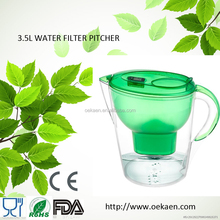 BPA FREE alkaline water ionizer low orp drinking water filter pitcher