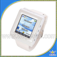Cheapest 1.44 inch GSM TriBand Touch Watch Mobile Phone with Bluetooth Camera FM