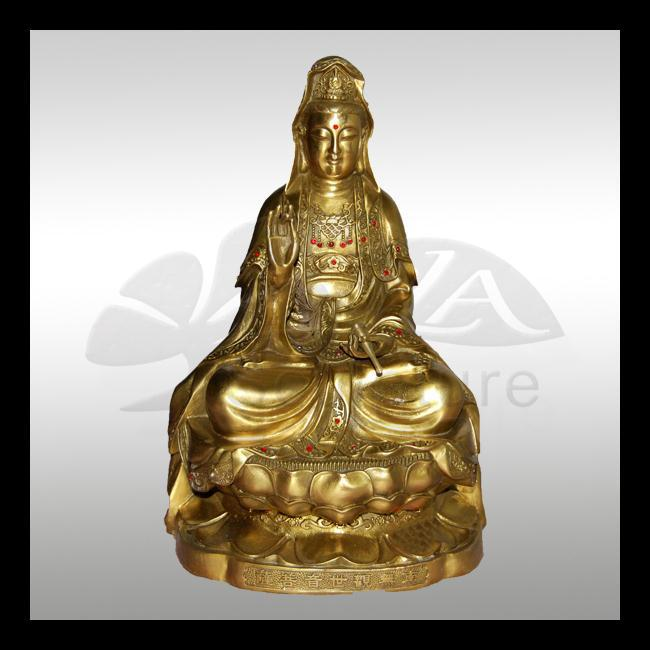 Life size bronze kuan yin statue for sale