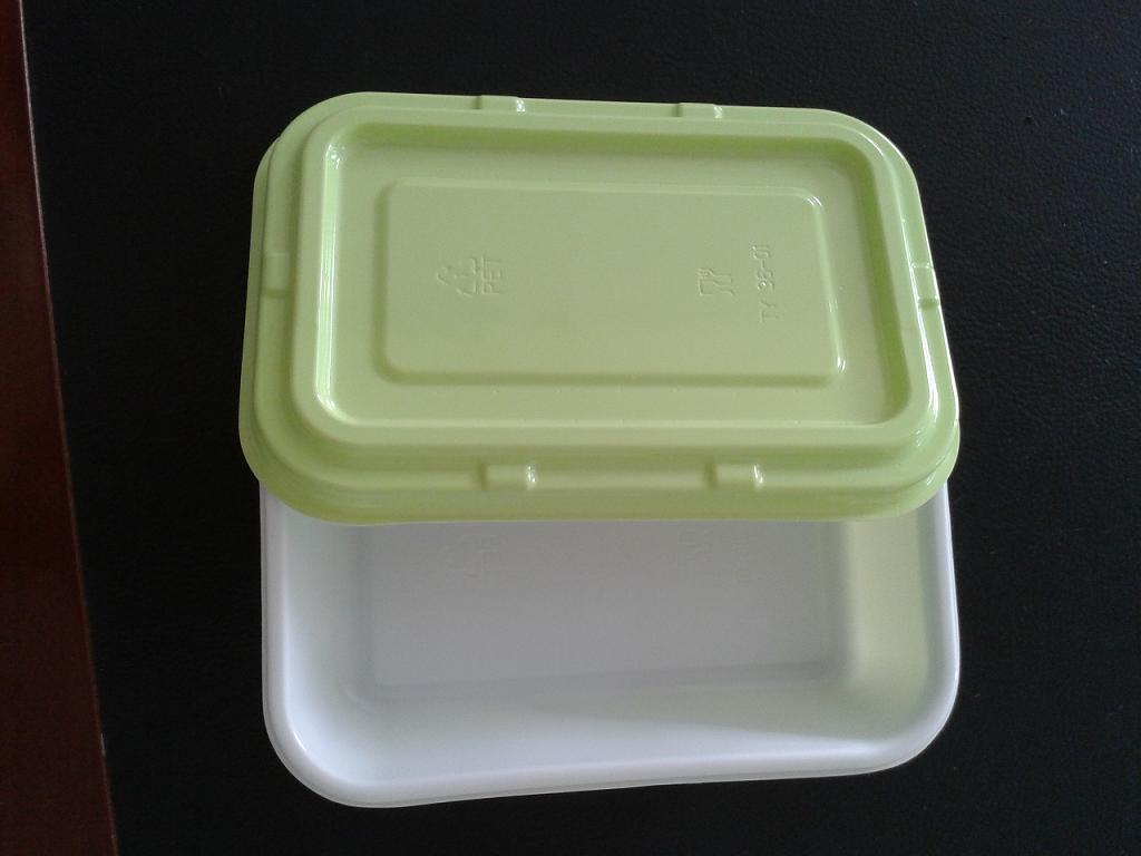 high temperature resistant disposable plastic food tray CPET food container TY-0036