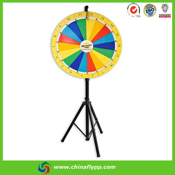 China FLY Colorful fortune trade show tabletop spinning prize wheel