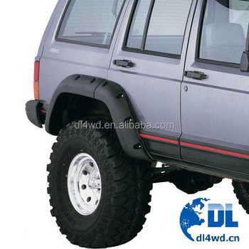 High quality acccessories 4x4 ABS fender flare for Jeep XJ ABS fender flare