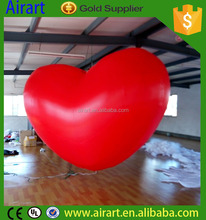LED light party decoration inflatable hanging balloon heart shape