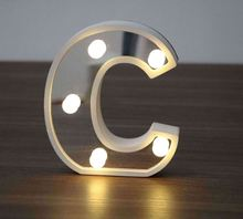 China hot-selling christmas decoration mini wooden led sign letters lights for wedding decoration crafts Linhai China