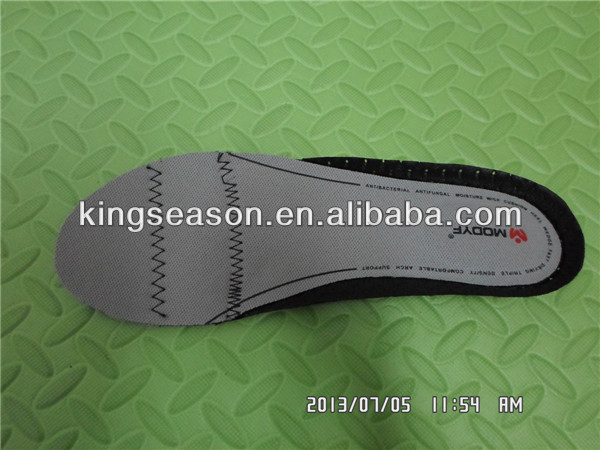 Molded eva insole shoe insole print logo insole material
