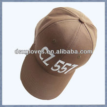 brush cotton twill Caps with embroidered logo wholesale brush cotton twill Caps