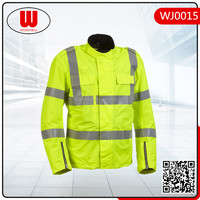 windproof waterproof fluorescent jacket with reflective tape