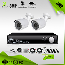 2CH AHD DVR Kits CCTV Seurity System with 3MP Camera