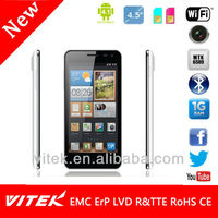 "4.5"" MTK6589 Phones Super Slim Quad Core IPS QHD Panel"