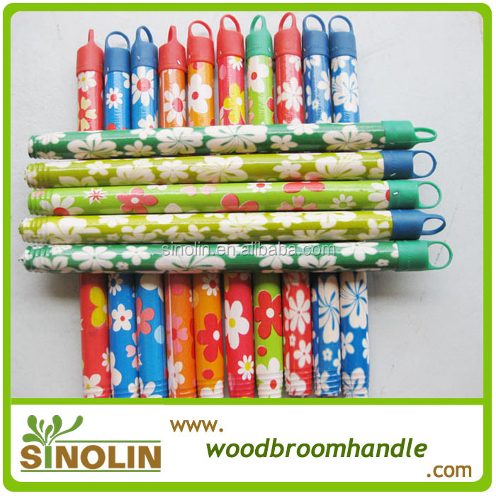 plastic coated wooden broom handle