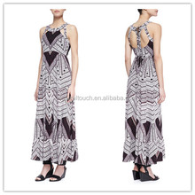 Wholesale Frost Printed Tiered Maxi lace Dress,long dresses uk(YLQ03345)