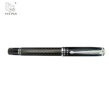 New carbon fiber pen, metal ball roller pens for gift set