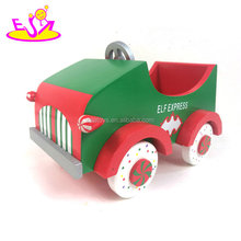 Wholesale cheap baby mini wooden toy cars for sale W04A358