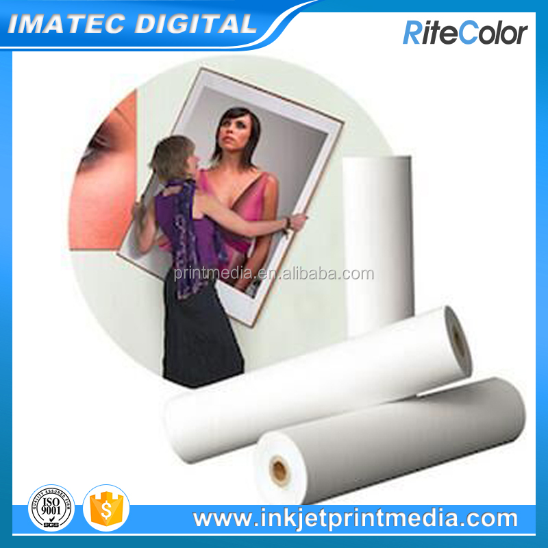 Customize Stretchable 360gsm Polycotton Inkjet Printing Blank Canvas