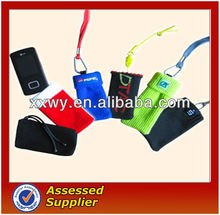 mobile phone sock with strap