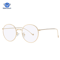 Teenyoun Round Oval Sunglasses Women Men Computer Anti Blue Light Glasses Brand Designer Metal Top Quality Oval Sunglasses UV400